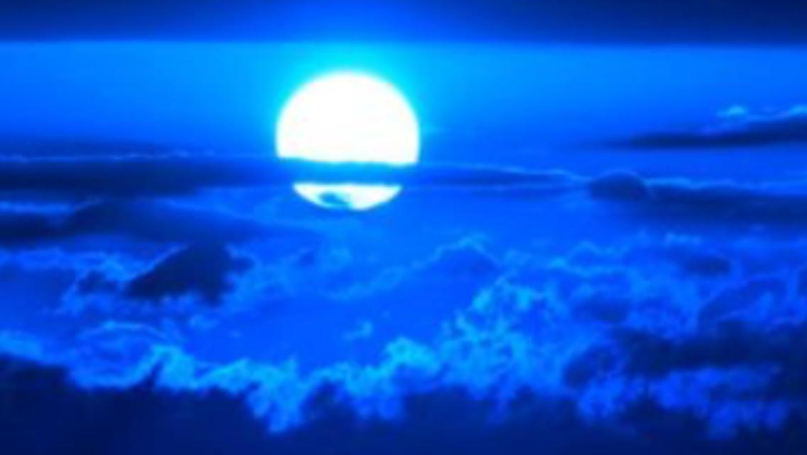 Blue moon tonight ,...